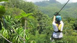 Zip line in the Seychelles