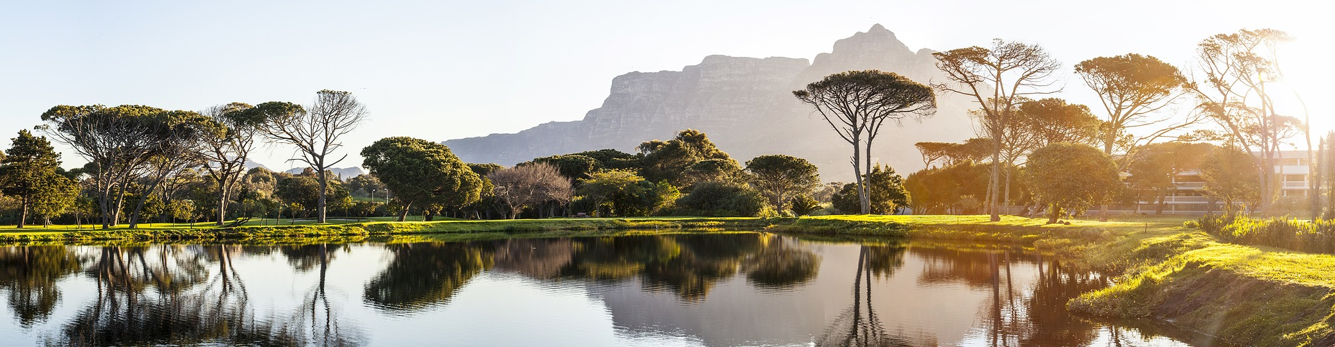Views of Table Mountain in South Africa